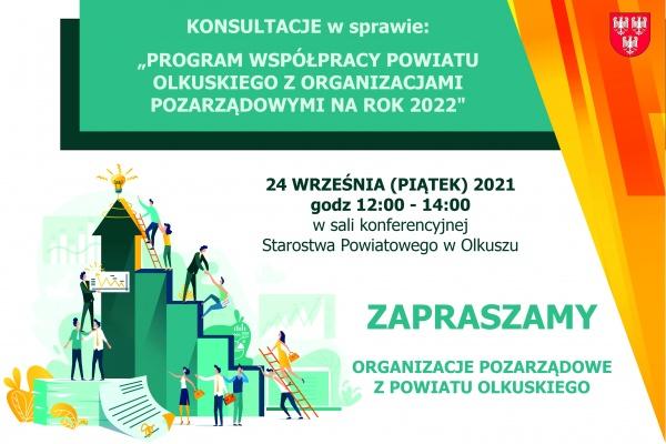 Zaproszenie do konsultacji programu współpracy 2021 z NGO